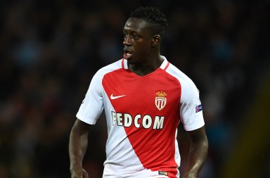 MANCHESTER, ENGLAND - FEBRUARY 21:  Benjamin Mendy of Monaco in action during the UEFA Champions League Round of 16 first leg match between Manchester City FC and AS Monaco at Etihad Stadium on February 21, 2017 in Manchester, United Kingdom.  (Photo by Laurence Griffiths/Getty Images)