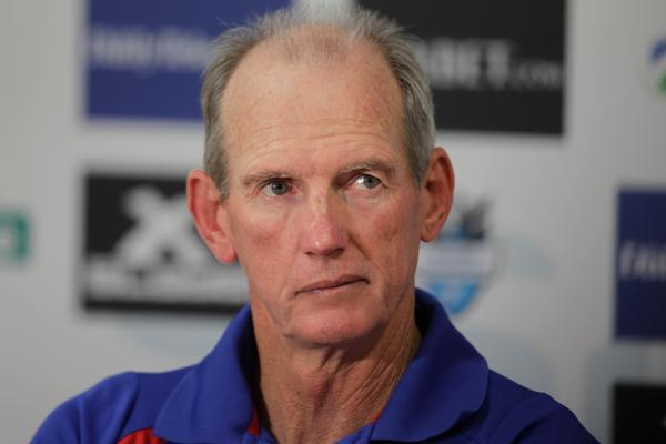 Cronulla, Sydney.NRL at Shark Park. Cronulla Sharks v Newcastle Knights..... Pic shows... Knights Coach, Wayne Bennett.  Photo: Quentin Jones. 11 March 2012.
