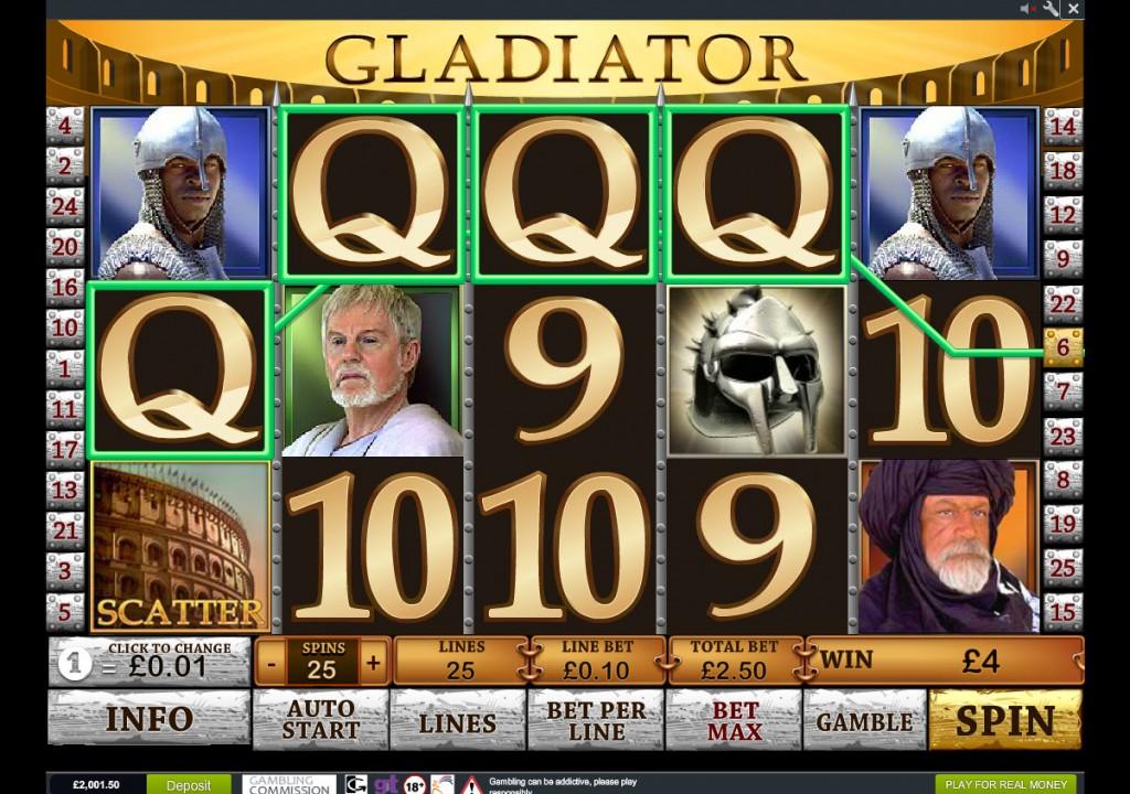 Gladiator free casino slots